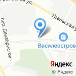 Трамонтана на карте Санкт-Петербурга