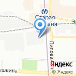 Коломяжское на карте Санкт-Петербурга
