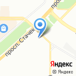 Магазин-склад мебели на карте Санкт-Петербурга
