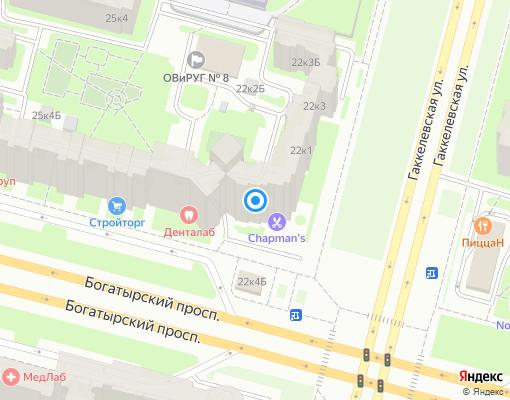 Товарищество собственников жилья «На Гаккелевской» на карте Санкт-Петербурга