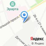 СкайЛайн на карте Санкт-Петербурга