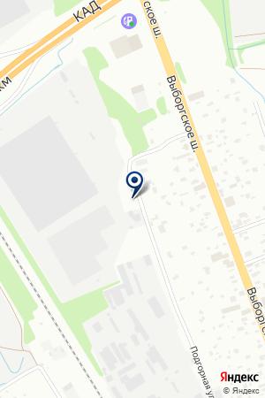 СКЛАДСКАЯ БАЗА ТРИГОНА на карте Санкт-Петербурга