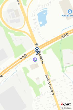 АЗС № 4 ЭГРИН ИНК на карте Выборга