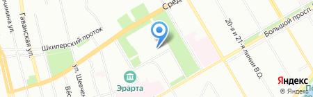 Эквивалент на карте Санкт-Петербурга
