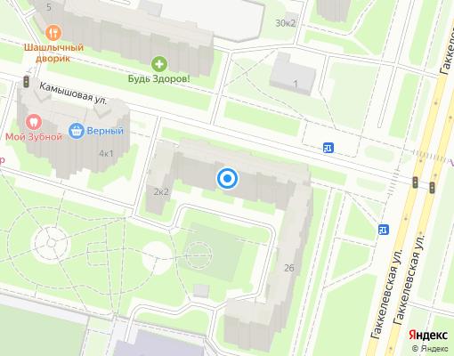 Жилищно-строительный кооператив «ЖСК № 1343» на карте Санкт-Петербурга