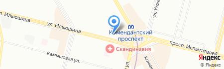 За путевкой на карте Санкт-Петербурга
