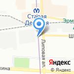 Фаэтон на карте Санкт-Петербурга