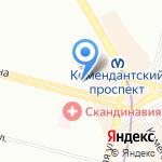 Сеть салонов-парикмахерских на карте Санкт-Петербурга