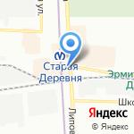 Ватрушка на карте Санкт-Петербурга