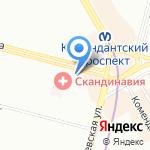 Космея на карте Санкт-Петербурга