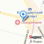 Монолит-М на карте Санкт-Петербурга