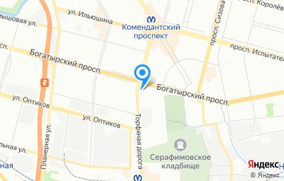 Местоположение на карте пункта техосмотра по адресу г Санкт-Петербург, ул Гаккелевская, д 21 литер а