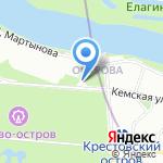 Поляна на карте Санкт-Петербурга