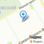 Инфанта на карте Санкт-Петербурга
