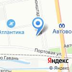ЮГ на карте Санкт-Петербурга