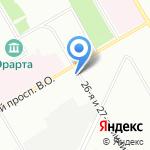 Tikkurila на карте Санкт-Петербурга