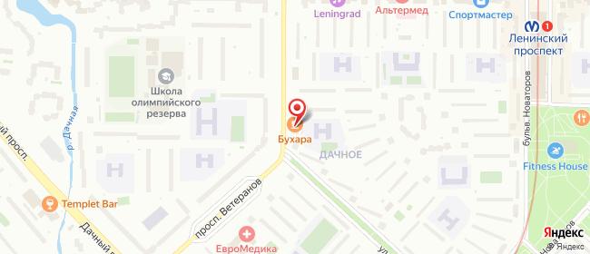 Карта расположения пункта доставки Санкт-Петербург Зины Портновой в городе Санкт-Петербург