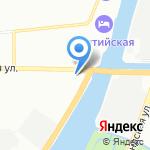 Храм Богоявления на Гутуевском острове на карте Санкт-Петербурга