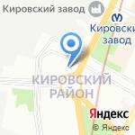 Академия вождения на карте Санкт-Петербурга