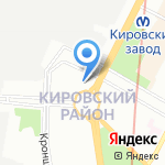 Кировец-Комплект на карте Санкт-Петербурга