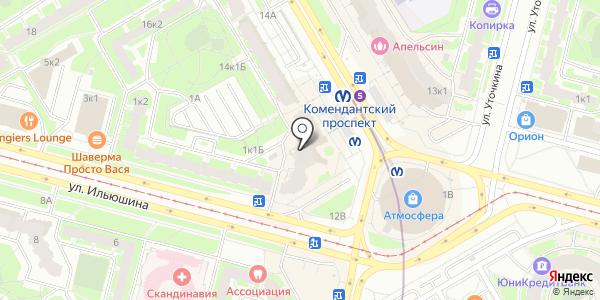 комендантский проспект интим карта