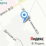 Якорь на карте Санкт-Петербурга
