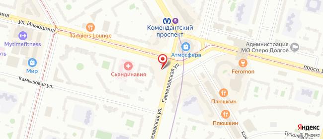 Карта расположения пункта доставки Санкт-Петербург Гаккелевская в городе Санкт-Петербург