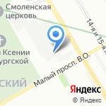 Нева-Стирка на карте Санкт-Петербурга