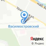 Атриум на карте Санкт-Петербурга