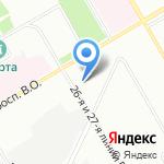 Профессионально-реабилитационный центр на карте Санкт-Петербурга