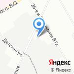 Балтийский завод на карте Санкт-Петербурга