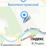 Фортуна на карте Санкт-Петербурга