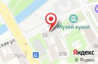 Схема проезда до компании Нота в Санкт-Петербурге