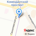 Гаккелевская улица 33-1 на карте Санкт-Петербурга