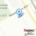 Трубы ХОБАС на карте Санкт-Петербурга