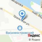Меншиков на карте Санкт-Петербурга