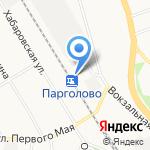Парголово на карте Санкт-Петербурга