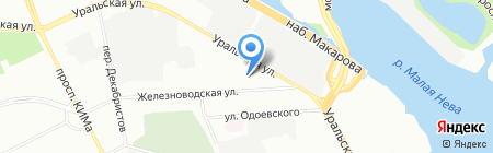 Куб на карте Санкт-Петербурга