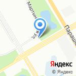 Сеть магазинов запчастей для Logan на карте Санкт-Петербурга