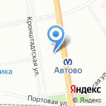 Розовый кролик на карте Санкт-Петербурга