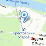 Гирлянда на карте Санкт-Петербурга
