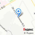 Остров-27 на карте Санкт-Петербурга