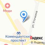 Детский сад №54 комбинированного вида на карте Санкт-Петербурга