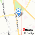 Диалог на карте Санкт-Петербурга