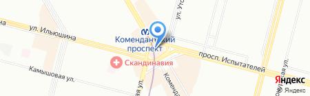 Оранжевый слон на карте Санкт-Петербурга