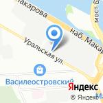 Индантрен на карте Санкт-Петербурга