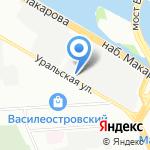 Франс на карте Санкт-Петербурга