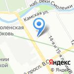Баджер на карте Санкт-Петербурга
