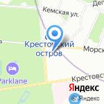 Tennis Line на карте Санкт-Петербурга