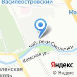 Зима на карте Санкт-Петербурга